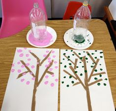 earth day tree. (egg cartons would work well too!)