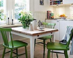 frische renovierungsideen-stühle mit farbe-umstreichen Küche-auffrischen