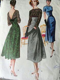 Abiti eleganti da cocktail, cena 1950
