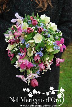 Bridal bouquet - fairy - helleborus - clematis - lily of the valley - tulip - myosotis - fern