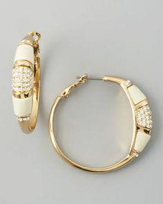 neiman marcus rachel zoe jewelry | Rachelzoe-Paveresin-Hoops