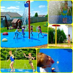 Backyard memories last a lifetime! Bring the water park to your home! A residential splash pad is a Fun, Safe and Colorful water play area for children of ALL ages!!! Made in America!!