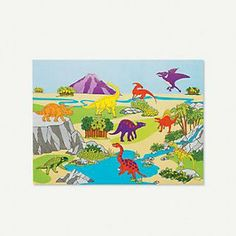 Dinosaur Sticker Scenes, great activity for a party.