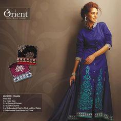 Winter Collection by Orient Textiles. Blue on blue suit.