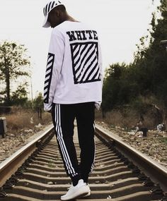 Pants for Marty Tomboy Fashion, Streetwear Fashion, Mens Fashion, Fashion Outfits, Fashion Hair, Off White Hoodie, Supreme Hat, Yeezy Outfit, Off White Shoes