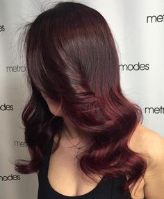 Chocolate+Brown+To+Burgundy+Ombre