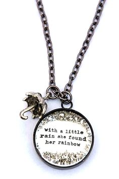 with a little rain she found her rainbow [CNL9] - $40.00 : Beth Quinn Designs , Romantic Inspirational Jewelry