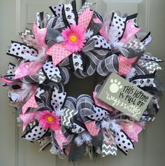 Dog Deco Mesh Wreath This Home is Full of Wags by BeautifulMesh