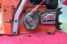 This article outlines the proper techniques for cleaning and tuning your chainsaw. It explains how you can clean your saw and replace the air filter, fuel filter and spark plug as part of the saw's annual tune-up. Chainsaw Repair, Chainsaw Bars, Chainsaw Mill, Chainsaw Chains, Lawn Mower Maintenance, Lawn Mower Repair, Chainsaw Sharpener, Garden Tool Shed, Diy Garden Furniture