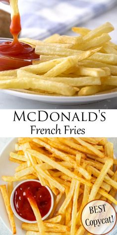 Learn how to make McDonald's Fries at home just like the classic fast food restaurant! These golden French Fries are a perfect replica and fun to make with the family! #comfortfood #fingerfood #friedfood #potatoes Tandoori Masala, Vegetarian Snacks, Authentic Mexican Recipes, Easy Chicken Recipes, Diy Food, Mcdonalds Fries, Appetizer Recipes, Food Videos, Yummy Food