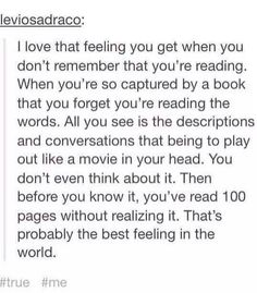 This has happened with very few books, but when it did happen it was AMAZING.!