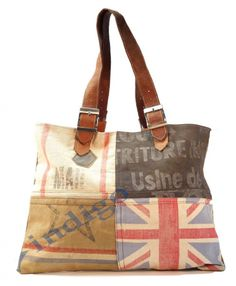 """Beautifully Made New """"Old Bags"""" - made from reclaimed leather and canvas - via Olde Green Cupboard Designs: Look at these bags!!"""