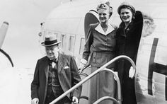 British Prime Minister Winston Churchill and his family, on their way to Lake Constance for holiday, 1946.