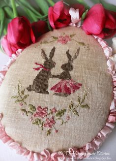 """Милые сердцу штучки: """"Пасхальная вышивка от The Snowflower Diaries"""" (Ве..."""