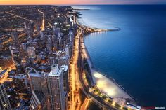 Chicago lakeshore from the John Hancock Building, May 2016