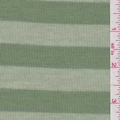 Sage Green Stripe Jersey Knit - Fabric By The Yard At Discount Prices