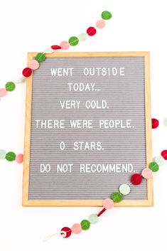 8 Festive Holiday Quotes For Your Letter Board