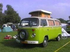 Volkwagen T2 camper groen