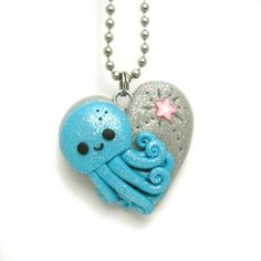Cute Octopus Love Necklace