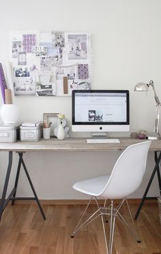 Lavender & White --- work space