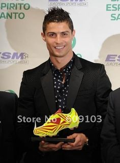 9 Generation 7# C Ronaldo Soccer Shoes,Football boots yellow/red on AliExpress.com. $61.00