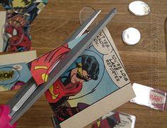 Superhero Comic Book Magnets by Amanda Formaro of Crafts by Amanda