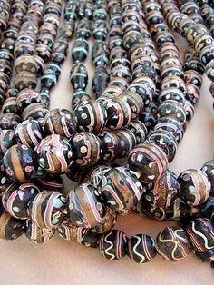 Antique Venetian glass beads used in the Africa trade circa late 1800's, early 1900's.