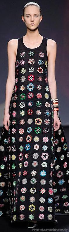 Christian Dior Haute Couture | F/W 2013 - Looks like one of those granny square afghans, ya know?