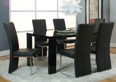 Black and White Glass Top Dinette. $198 for table and 4 chairs ...
