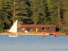 The leading crew approaches the buoy in the ‪#‎Yawgoog‬ Sailing Regatta on July 15, 2016 (Week 3). The view is from Deer Point.  Image by David R. Brierley.