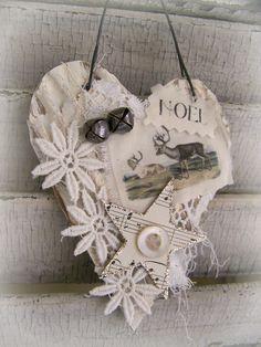 Handmade Christmas Ornament Vintage Reindeer  Ornament by QueenBe, $11.50