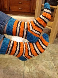 Ravelry: RootsandRainYarns' Clown Fish Socks aka Late Night Cast On Knitting Ideas, Knitting Socks, Hand Knitting, Ravelry, Late Nights, Leg Warmers, Ava, Free Pattern, Slippers