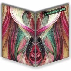 Joico Color, Vivid Hair Color, Over The Rainbow, Peacock, Mermaid, Hair Styles, Pink, Beauty, Instagram