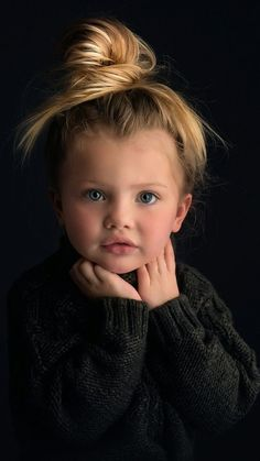Baby Face All black background to bring the face front and center. Precious Children, Beautiful Children, Beautiful Babies, Cute Baby Girl, Cute Babies, Children Photography, Portrait Photography, Foto Baby, Fashion Kids
