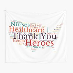 Thank You Nurses, Health Care, Tapestry, Printed, American, Awesome, Shirt, Products, Hanging Tapestry