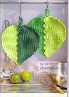crochet: presina a foglie https://picasaweb.google.com/113840194708538679594/KuchenneApki?noredirect=1#5925425274661552610