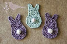 Hasen häkeln einfach Dekoration Ostern