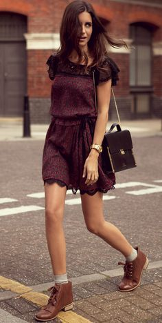 Shoes are awesome!  Burgundy dress is awesome