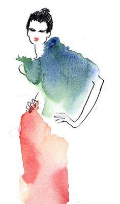 Fashion design sketches 220535712989294114 - Illustration de Mode – Sylvia Baldeva: Illustration de Mode – Fashion Illustration Source by isacouty Fashion Design Drawings, Fashion Sketches, Dress Sketches, Fashion Sketchbook, Watercolor Fashion, Watercolor Art, Silhouette Mode, Fashion Illustration Dresses, Illustration Mode