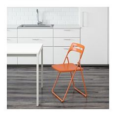 IKEA - NISSE, Folding chair, You can fold the chair, so it takes less space when you're not using it.You can hang it on a hook on the wall to save space.
