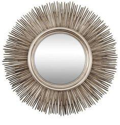 Huge Silver Bamboo Sun Mirror
