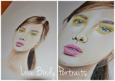 #makeup #lips drawing in pencil and pastel