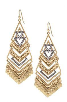 Gold Statement Chandelier Earrings | Stella & Dot Http://www.stelladot.com/sites/melmccartney