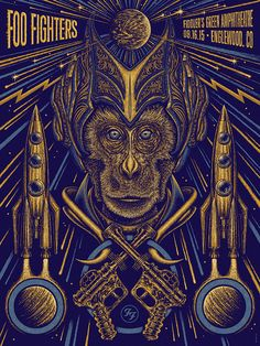 Foo Fighters-Poster Englewood, Colorado 2015 by Todd Slater