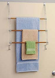 Hold N Storage Bamboo Over The Door Towel Organizer 454BW by Better Bath