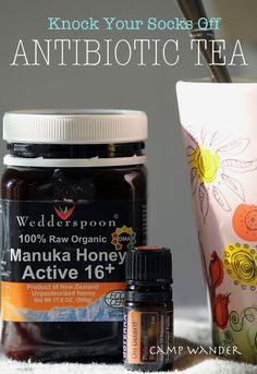 Camp Wander: Natural Antibiotic Remedies & Why They Work with a recipe for natural antibiotic tea Flu Remedies, Herbal Remedies, Health Remedies, Holistic Remedies, Natural Home Remedies, Natural Healing, Natural Oils, Natural Medicine, Herbal Medicine