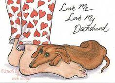 love my dachshund Funny Dachshund, Mini Dachshund, Daschund, Vintage Dachshund, Scottish Terrier, Dog Love, Puppy Love, Otter, Weenie Dogs