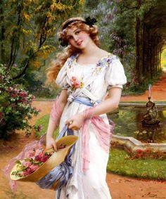 In The Garden ~ Émile Vernon ~ (French 1872-1919)