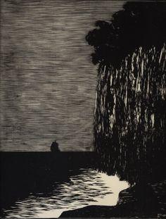 """Tristan"" by Kobliha František (Czech) 1911 woodcut"