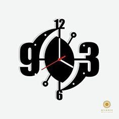 Amazon.com: Abstract Art Modern Wall Clock: Home & Kitchen
